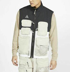 Nike Men's ACG Vest CK7236-010 Black Summit White Fisherman Outdoor Gear NWT