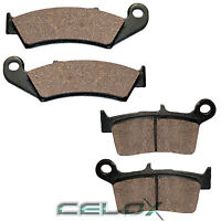 Front Rear Brake Pads for Honda CR250R 1987 1988 1989 1990