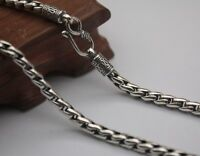 20 inch Pure 925 Sterling Silver Necklace 5mm Wheat Link Chain Necklace S925