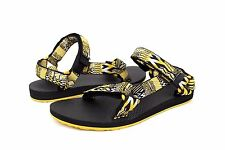 TEVA ORIGINAL UNIVERSAL JOLBY GOLDEN BLACK SANDALS SIZE 8 US