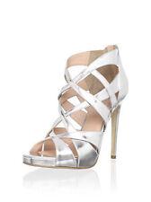 Alejandro Ingelmo zanotti Silver strappy gladiator platform heels sandals 39