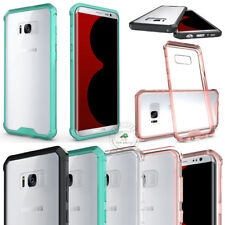 Fashion Heavy Duty Tough Armor Cover Shockproof Slim Transparent Hybrid Case
