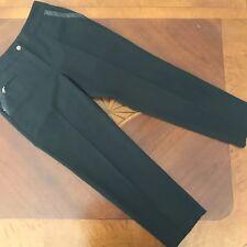 EP Pro Women's Golf Pants size 4 Faux Leather Trim Black