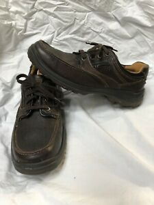 Ecco Hydromax Shoes Mens EU 44 US 10 10.5 Casual Walking Hiking Brown Leather