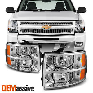 Fit 2007-2013 Chevy Silverado 1500 2500 3500 Replacement Headlights L+R Pair