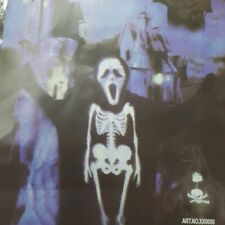 HALLOWEEN Adult Costume Scary Skeleton Ghost Cloak Scream ONE SIZE FITS ALL
