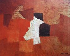 "POLIAKOFF mounted repro print, 14 x 11"", XXe Siècle 1960 retro abstract X15038"