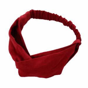 Elastic Headband Wide Hairband Head Wrap Yoga Stretch Turban Sport Bandanas New