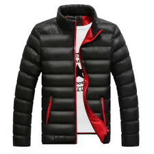 Men Winter Warm Cotton Padded Quilted Down Coat Slim Thick Puffer Jacket Outwear