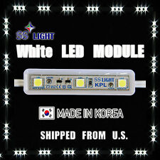 100PCS/50FT 9cm 3 WHITE LED MODULE-KPL  12V DC SS Light Korea