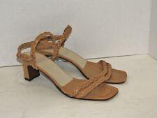 Jil Sander Tan Braided Leather Sandals sz EURO 38 / US 7 1/2 B  - Spain