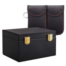 RFID Keyless Signal Blocker Box Faraday Box for Car Keys, with 2Pcs Safe N8Q3