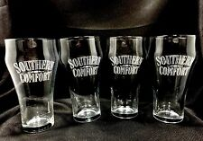 Southern Comfort Whiskey Glasses Barware Advertising Cocktail Drinks Set of 4