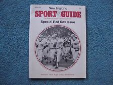1976 NEW ENGLAND SPORTS GUIDE MAGAZINE BOSTON RED SOX MAN CAVE COLLECIBLE
