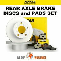 TEXTAR Rear Axle BRAKE DISCS + PADS for RENAULT MEGANE Hatch 1.6 dCi 2011->on