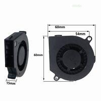 2pcs 12V 2Pin 60mm 6cm 60x60x15mm Brushless DC Cooling Blower Fan 60x15mm 0.15A