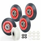 """4392067 Dryer Repair Kit 4 Rollers Pulley 88"""" Belt 66157 WP4392067 For Whirlpool photo"""