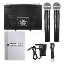 Professional 2 channel VHF Wireless Dual Microphone System Cordless Handheld Mic