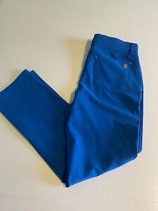 Footjoy FJ Athletic Fit Mens Blue 33x32 5 Pocket Performance Golf Pants EUC