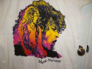ROBERT PLANT Manic Nirvana 1990 Detroit Tour  Rock Shirt Size XXXL Concert