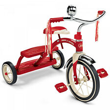 Kids Trike Classic Red Dual Deck Tricycle 12 in. Front Wheel Adjustable Seat Red