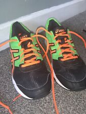 asics running shoes Size 5 Green And Orange