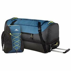 New High Sierra Large 76cm Wheeled Duffel BAG Blue Black + FREE BACKPACK DUFFLE
