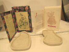 2 vtg 90's Longaberger Easter Cookie Mold Mama Grandma Child Baby Bunny Rabbit