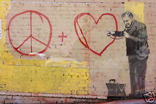A0 LARGE Australian Banksy Street Art Print satin photo paper POSTER