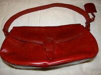 Kenneth Cole New York Red Leather Purse Hand Bag