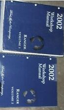 2002 Ford RANGER TRUCK Service Shop Repair Manual Set OEM BOOKS FACTORY