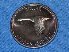 1967 Canada Commemorative Goose Silver Dollar Proof Rainbow Toned Specimen B6476