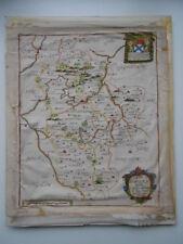 Map, Rich. Blome, Bedfordshire, 1673, Distressed, Antique Original