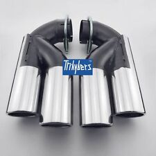Pair stainless steel exhaust tips for VW Touareg & Porsche Cayenne & AUDI Q7