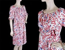 $2,425 NEW GUCCI WHITE SILK DRESS WITH CORAL PRINT + travel garment bag 40-6