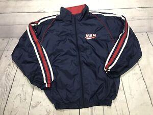vintage team usa zip up jacket adult medium olympics united states bike vtg