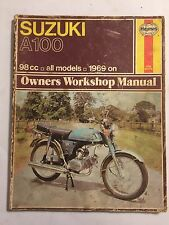 SUZUKI A100 SINGLES A100 A100K A100L & A100M HAYNES WORKSHOP MANUAL 1969-1979