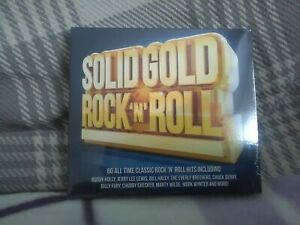 Solid Gold Rock n Roll - 3xCds  (2016) Various Artists - new - Free Uk Postage