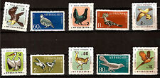 BULGARIE 10  timbres sur les oiseaux Poules,aigles,pigeon,pelican  1m 105