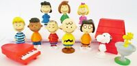 *PEANUTS 12 Figure Set PVC TOY Cake Topper CHARLIE BROWN Snoopy WOODSTOCK Lucy!*