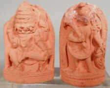 India Nepal Hindu Relief Terracotta Votive Tsa Tsa Plaques of Deities ca19 c #2