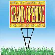 18x24 Grand Opening Outdoor Yard Sign Amp Stake Sidewalk Lawn Sales Now Open