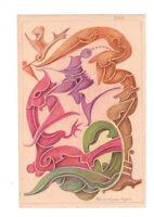 Fritz Klee original Pastell Zeichnung 1954 /24,5x16,5cm