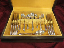 "Vtg. Complete 49 pc Rogers IS ""1933 INSPIRATION"" Silverplate Flatware Set for 8"