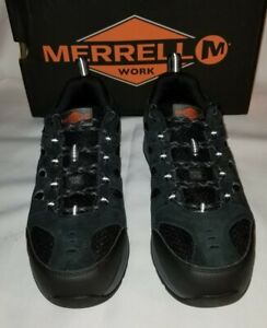 MERRELL Windoc Size 11.5 Wide Black Waterproof Steel Toe Men's Sneaker MSRP $105
