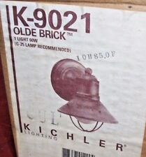 Kichler Lighting:  Outdoor Wall Light Lamp 60w   Olde Brick 9021 (new)