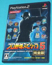 Pro Baseball Spirits 5 - Sony Playstation 2 PS2 Japan - JAP