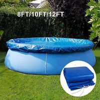 8 10 12FT Round Easy Set Vinyl Solar Cover for  Above Ground Swimming Pool Blue