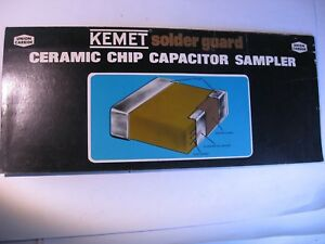 Kemet Chip Capacitor Sample Card Product Guide Trade-Show Swag Used Qty 1