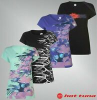 Ladies Hot Tuna Print Short Sleeves Crew Neck T Shirt Sizes from 8 to 18